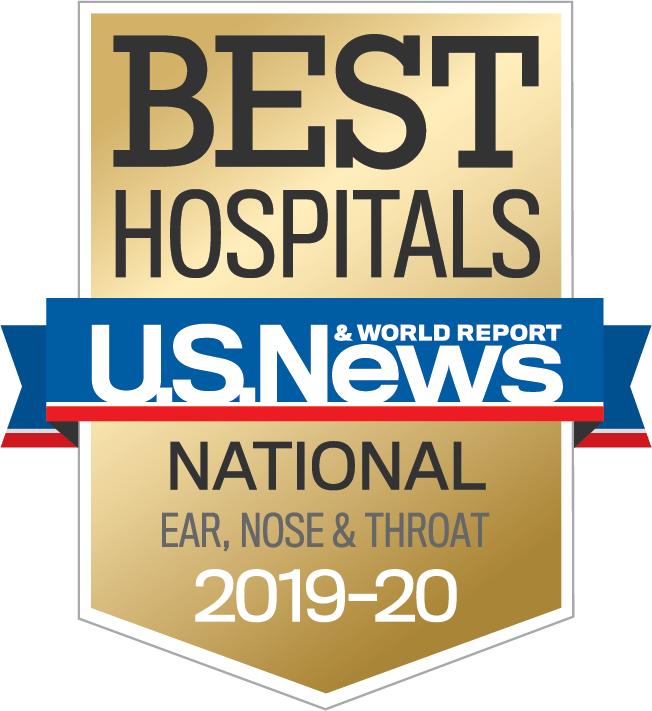 us news national ear nose throat badge